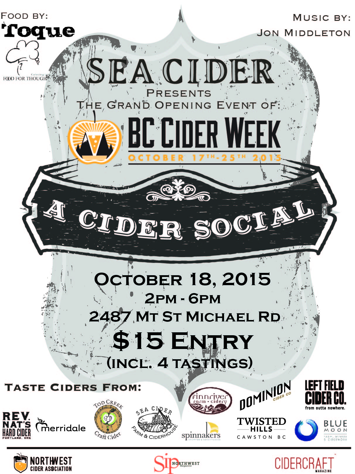 Cider Social Event Poster 11x17