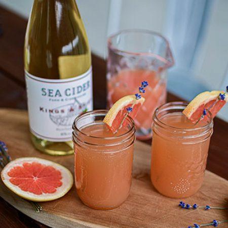 Cider + Grapefruit Mimosa